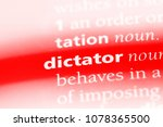 dictator word in a dictionary.... | Shutterstock . vector #1078365500