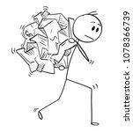 cartoon stick man drawing...   Shutterstock .eps vector #1078366739