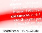decorate word in a dictionary.... | Shutterstock . vector #1078368080