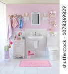home bathroom decoration style. ... | Shutterstock . vector #1078369829