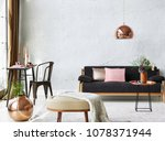 living room and room concept... | Shutterstock . vector #1078371944