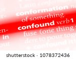 Small photo of confound word in a dictionary. confound concept
