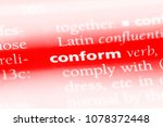 Small photo of conform word in a dictionary. conform concept