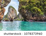 crystal clear sea at railay... | Shutterstock . vector #1078373960