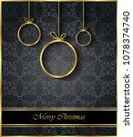 2019 merry christmas background ... | Shutterstock .eps vector #1078374740