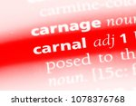 Small photo of carnal word in a dictionary. carnal concept