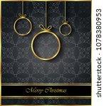 2019 merry christmas background ... | Shutterstock . vector #1078380953