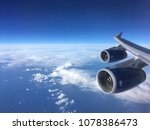 view of jet engines on a a 747  ...   Shutterstock . vector #1078386473