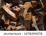 used rusty train brake shoes | Shutterstock . vector #1078394078