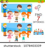 cartoon illustration of finding ... | Shutterstock .eps vector #1078403339