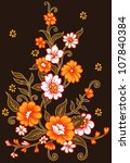a collection of organic floral... | Shutterstock .eps vector #107840384