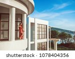 girl with architecture | Shutterstock . vector #1078404356