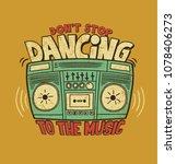 tape recorder. music dancing.... | Shutterstock .eps vector #1078406273