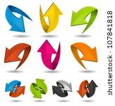 colorful motion arrows set ... | Shutterstock .eps vector #107841818