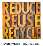 reduce  reuse and recycle  ... | Shutterstock . vector #1078427138