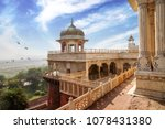 historic agra fort with view of ... | Shutterstock . vector #1078431380