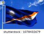 the silk waving flag of... | Shutterstock . vector #1078432679