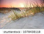 romantic sunset in the sand...   Shutterstock . vector #1078438118