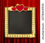 gold frame in cinematic style... | Shutterstock .eps vector #1078443920