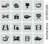 movie icons set. | Shutterstock .eps vector #107845184
