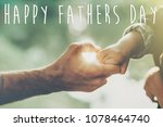 happy father's day text ... | Shutterstock . vector #1078464740
