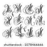 calligraphy lettering script... | Shutterstock .eps vector #1078466666
