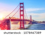 scenic view of the golden gate...   Shutterstock . vector #1078467389