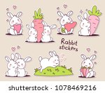 collection of sticker of happy... | Shutterstock .eps vector #1078469216