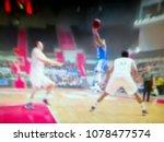 blurred background. basketball...   Shutterstock . vector #1078477574