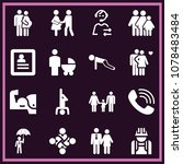 set of 16 man filled icons such ... | Shutterstock .eps vector #1078483484