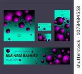 corporate identity templates...   Shutterstock .eps vector #1078484558