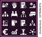 set of 16 business filled icons ... | Shutterstock .eps vector #1078486376