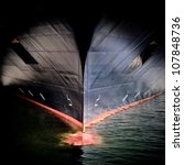 the massive bow of a large ship ...   Shutterstock . vector #107848736