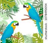 illustration with cute cartoon... | Shutterstock .eps vector #1078490054