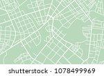 editable vector street map of... | Shutterstock .eps vector #1078499969