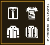 set of 4 shirt filled icons... | Shutterstock .eps vector #1078500458