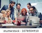 group of business people... | Shutterstock . vector #1078504910