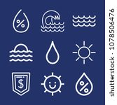 weather outline vector icon set ... | Shutterstock .eps vector #1078506476