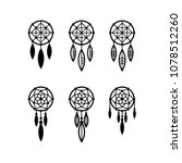 dream catcher icon set | Shutterstock .eps vector #1078512260