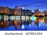 skyline of orlando  florida... | Shutterstock . vector #107851304