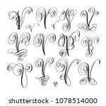 calligraphy lettering script... | Shutterstock .eps vector #1078514000