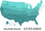 united states map vector... | Shutterstock .eps vector #1078518800