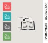 books   vector icon. symbol for ...