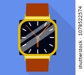 wrist watch icon. flat... | Shutterstock .eps vector #1078522574