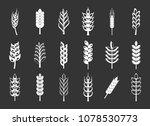 wheat icon set vector white... | Shutterstock .eps vector #1078530773