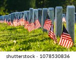 Veterans Cemetary With Rows Of...