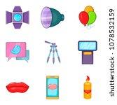 sweetheart icons set. cartoon...   Shutterstock .eps vector #1078532159