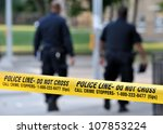 toronto july 17  police line do ... | Shutterstock . vector #107853224
