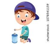 vector illustration of kid... | Shutterstock .eps vector #1078541159