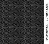3d dark paper art spiral curve... | Shutterstock .eps vector #1078545206